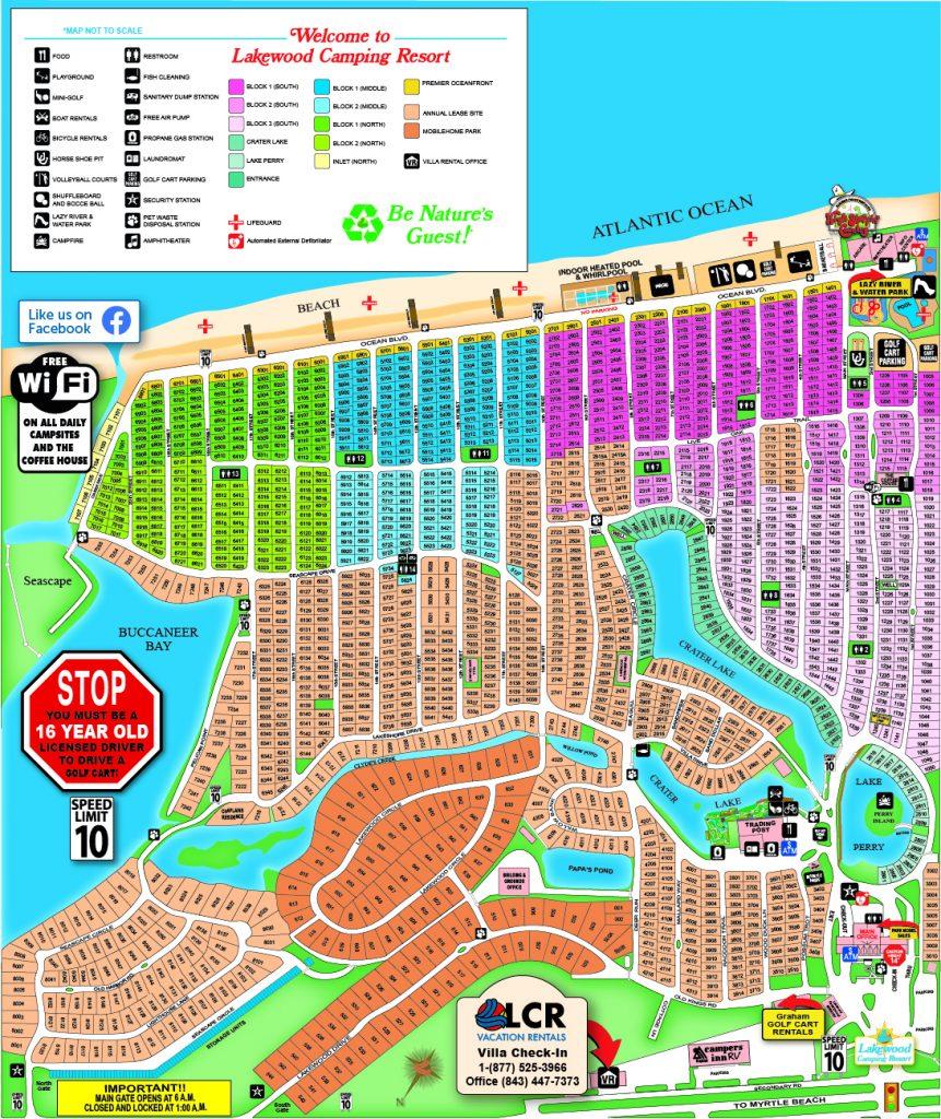 Lakewood Camping Resort Map